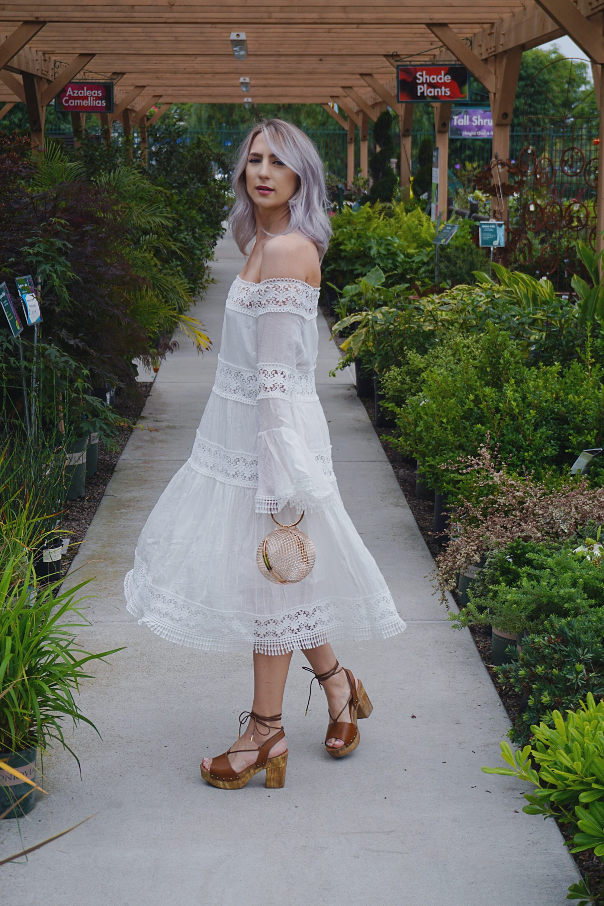 White Dresses & Platform Shoes