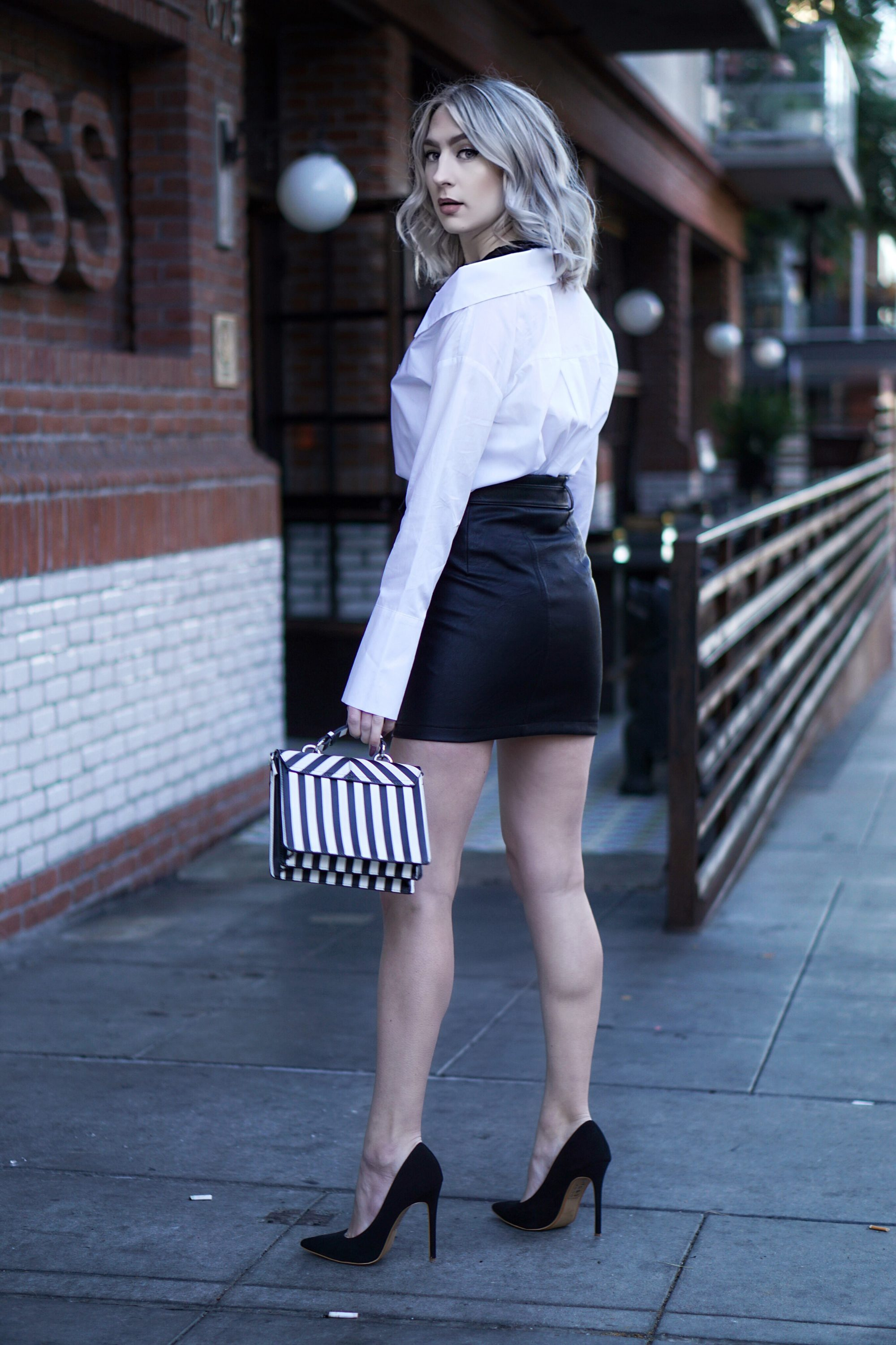 Deconstructed Basics & Leather Skirt