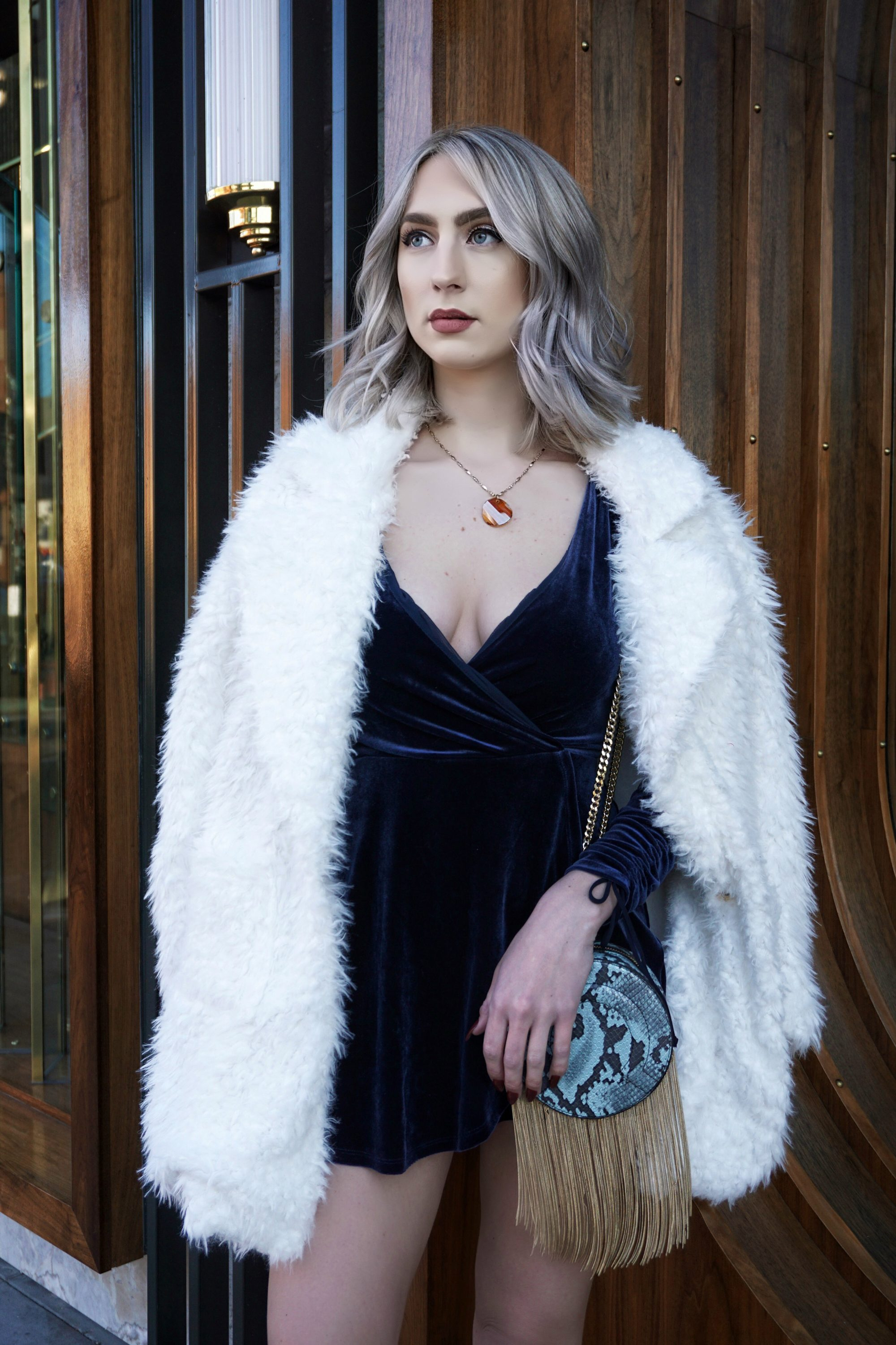 New Year's Outfit Inspiration: Velvet + Fur